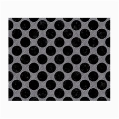 Circles2 Black Marble & Gray Colored Pencil (r) Small Glasses Cloth (2 Side) by trendistuff