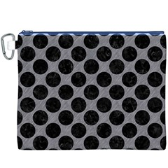 Circles2 Black Marble & Gray Colored Pencil (r) Canvas Cosmetic Bag (xxxl) by trendistuff