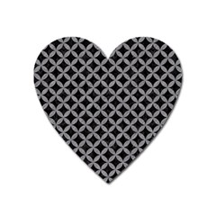 Circles3 Black Marble & Gray Colored Pencil Heart Magnet by trendistuff