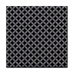 Circles3 Black Marble & Gray Colored Pencil Face Towel by trendistuff