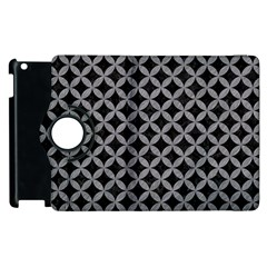 Circles3 Black Marble & Gray Colored Pencil Apple Ipad 3/4 Flip 360 Case by trendistuff