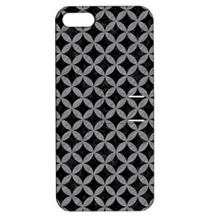 Circles3 Black Marble & Gray Colored Pencil Apple Iphone 5 Hardshell Case With Stand by trendistuff