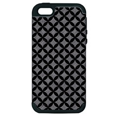 Circles3 Black Marble & Gray Colored Pencil (r) Apple Iphone 5 Hardshell Case (pc+silicone) by trendistuff