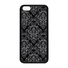Damask1 Black Marble & Gray Colored Pencil Apple Iphone 5c Seamless Case (black) by trendistuff