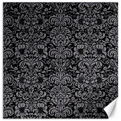 Damask2 Black Marble & Gray Colored Pencil Canvas 16  X 16   by trendistuff