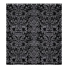 Damask2 Black Marble & Gray Colored Pencil Shower Curtain 66  X 72  (large)  by trendistuff