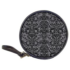 Damask2 Black Marble & Gray Colored Pencil (r) Classic 20 Cd Wallets by trendistuff