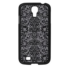 Damask2 Black Marble & Gray Colored Pencil (r) Samsung Galaxy S4 I9500/ I9505 Case (black) by trendistuff
