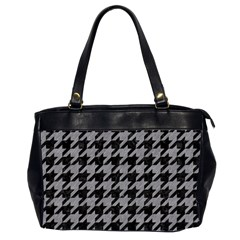 Houndstooth1 Black Marble & Gray Colored Pencil Office Handbags (2 Sides)  by trendistuff