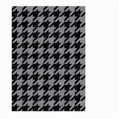 Houndstooth1 Black Marble & Gray Colored Pencil Large Garden Flag (two Sides) by trendistuff