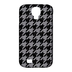 Houndstooth1 Black Marble & Gray Colored Pencil Samsung Galaxy S4 Classic Hardshell Case (pc+silicone) by trendistuff