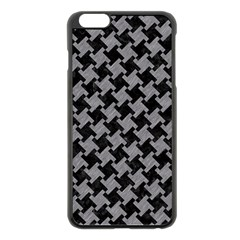 Houndstooth2 Black Marble & Gray Colored Pencil Apple Iphone 6 Plus/6s Plus Black Enamel Case by trendistuff