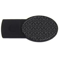 Hexagon1 Black Marble & Gray Colored Pencil Usb Flash Drive Oval (4 Gb) by trendistuff