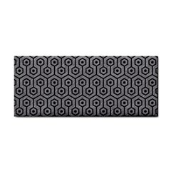 Hexagon1 Black Marble & Gray Colored Pencil (r) Cosmetic Storage Cases by trendistuff