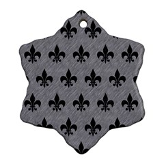 Royal1 Black Marble & Gray Colored Pencil Snowflake Ornament (two Sides) by trendistuff
