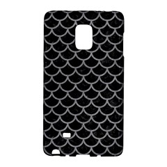 Scales1 Black Marble & Gray Colored Pencil Galaxy Note Edge by trendistuff