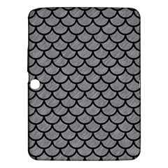 Scales1 Black Marble & Gray Colored Pencil (r) Samsung Galaxy Tab 3 (10 1 ) P5200 Hardshell Case  by trendistuff