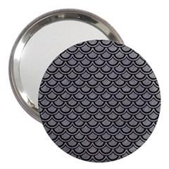 Scales2 Black Marble & Gray Colored Pencil (r) 3  Handbag Mirrors