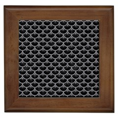 Scales3 Black Marble & Gray Colored Pencil Framed Tiles by trendistuff