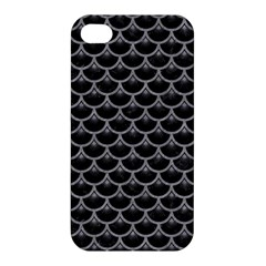 Scales3 Black Marble & Gray Colored Pencil Apple Iphone 4/4s Hardshell Case by trendistuff