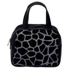 Skin1 Black Marble & Gray Colored Pencil (r) Classic Handbags (one Side) by trendistuff