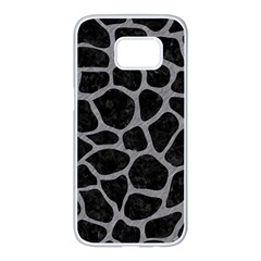 Skin1 Black Marble & Gray Colored Pencil (r) Samsung Galaxy S7 Edge White Seamless Case by trendistuff