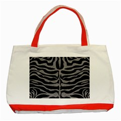Skin2 Black Marble & Gray Colored Pencil Classic Tote Bag (red) by trendistuff