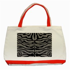Skin2 Black Marble & Gray Colored Pencil (r) Classic Tote Bag (red) by trendistuff