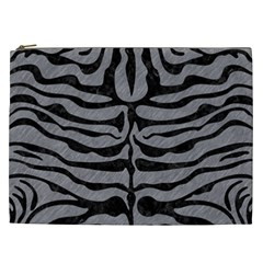 Skin2 Black Marble & Gray Colored Pencil (r) Cosmetic Bag (xxl)