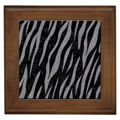 Skin3 Black Marble & Gray Colored Pencil Framed Tiles by trendistuff