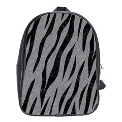 Skin3 Black Marble & Gray Colored Pencil (r) School Bag (large)