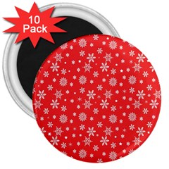 Xmas Pattern 3  Magnets (10 Pack)  by Valentinaart