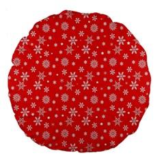 Xmas Pattern Large 18  Premium Flano Round Cushions by Valentinaart