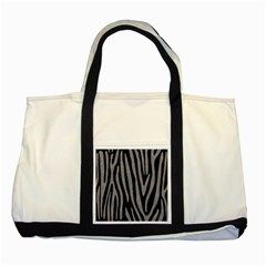 Skin4 Black Marble & Gray Colored Pencil (r) Two Tone Tote Bag by trendistuff