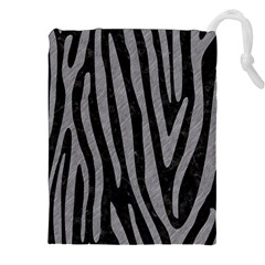 Skin4 Black Marble & Gray Colored Pencil (r) Drawstring Pouches (xxl) by trendistuff