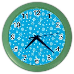 Xmas Pattern Color Wall Clocks by Valentinaart