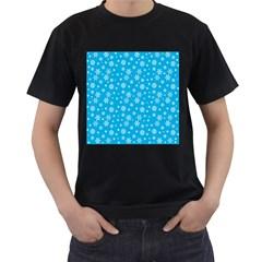 Xmas Pattern Men s T Shirt (black) by Valentinaart