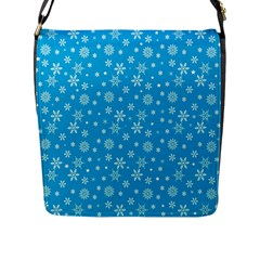 Xmas Pattern Flap Messenger Bag (l)  by Valentinaart