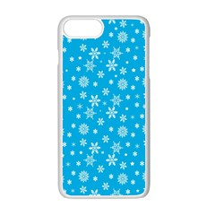 Xmas Pattern Apple Iphone 7 Plus White Seamless Case by Valentinaart