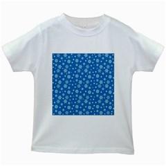 Xmas Pattern Kids White T Shirts by Valentinaart