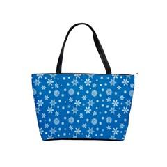 Xmas Pattern Shoulder Handbags by Valentinaart