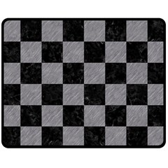 Square1 Black Marble & Gray Colored Pencil Fleece Blanket (medium)  by trendistuff
