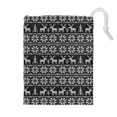 Xmas Pattern Drawstring Pouches (extra Large) by Valentinaart