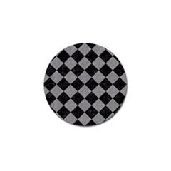 Square2 Black Marble & Gray Colored Pencil Golf Ball Marker (10 Pack) by trendistuff