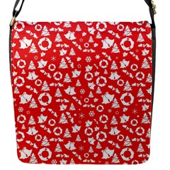 Xmas Pattern Flap Messenger Bag (s) by Valentinaart