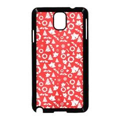 Xmas Pattern Samsung Galaxy Note 3 Neo Hardshell Case (black) by Valentinaart