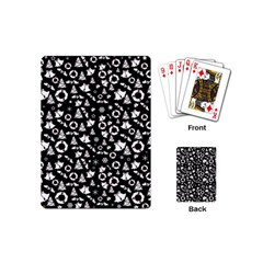 Xmas Pattern Playing Cards (mini)  by Valentinaart