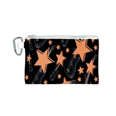 Guitar Star Rain Canvas Cosmetic Bag (s) by SpaceyQT
