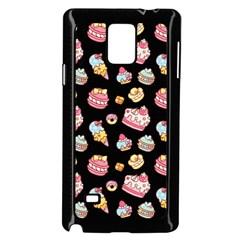 Sweet Pattern Samsung Galaxy Note 4 Case (black) by Valentinaart