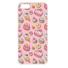 Sweet Pattern Apple Iphone 5 Seamless Case (white) by Valentinaart